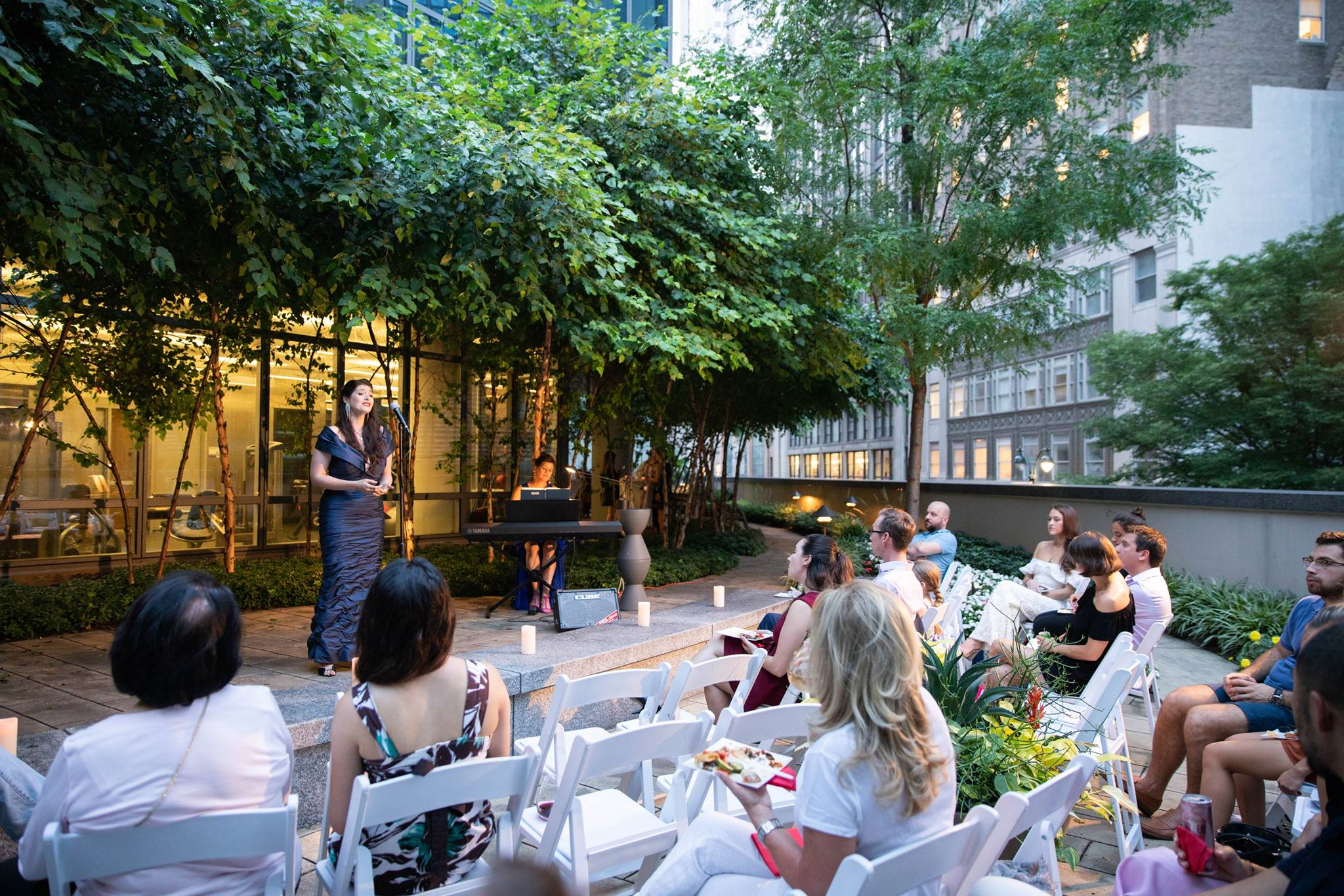 One Sixty Madison lifestyle Woman singing event