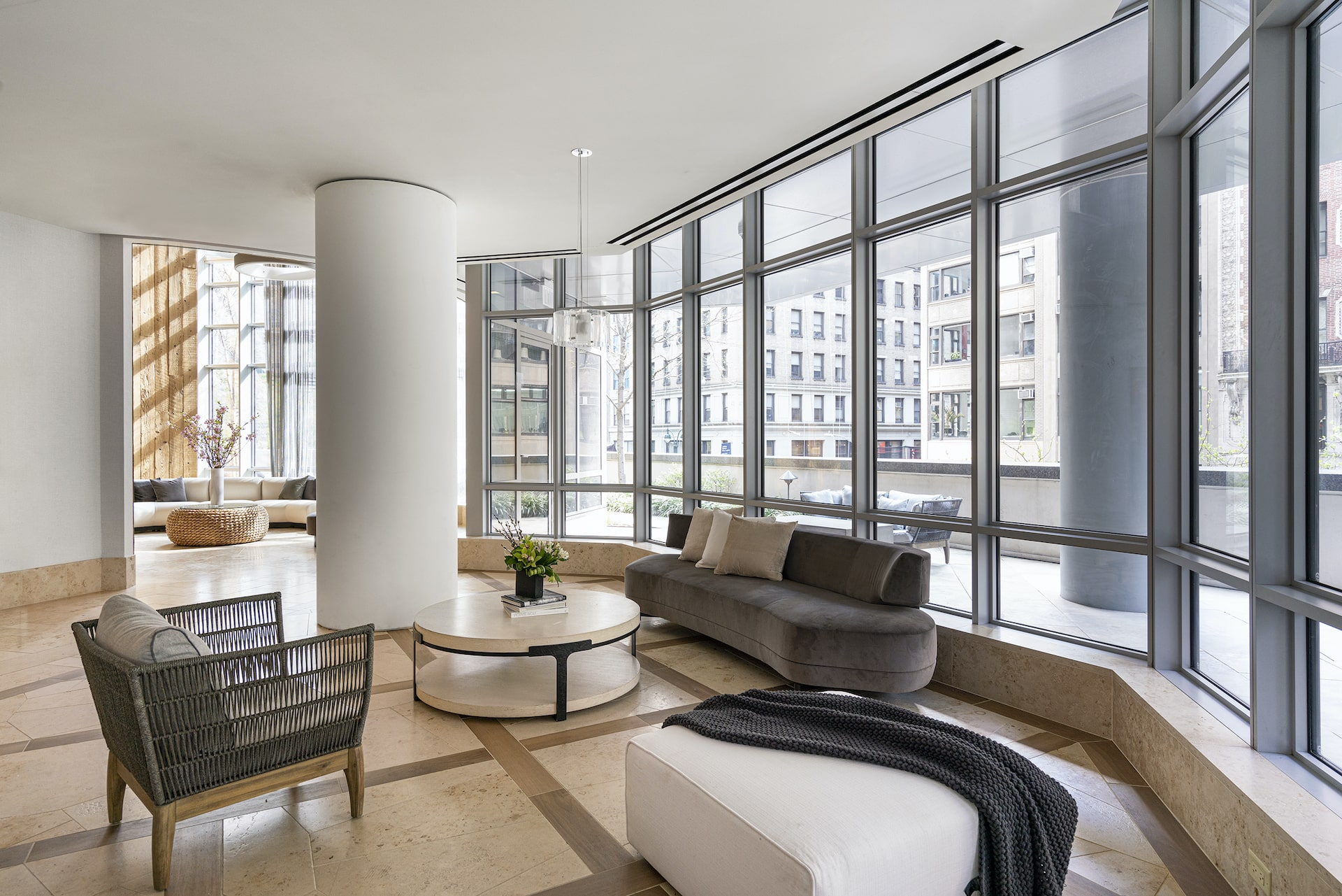 One Sixty Madison Amenities Lounge with seating