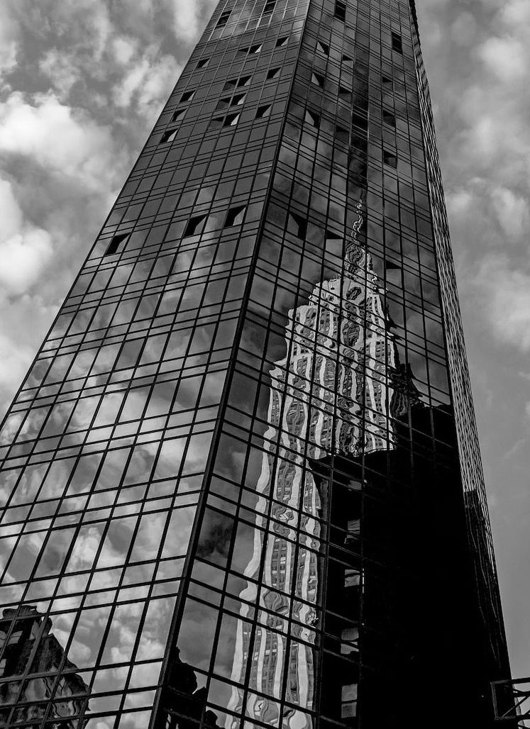 One Sixty Madison Black and white exterior with reflection